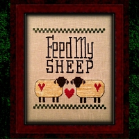 Feed My Sheep Counted Cross Stitch Chart