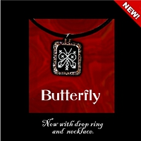 Butterfly Pendant Necklace Kit counted cross stitch