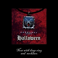 Halloween Pendant Necklace Kit counted cross stitch