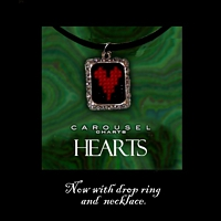 Hearts Pendant Necklace Kit counted cross stitch