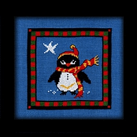 Christmas Star Penguin Pal Carousel Charts counted cross stitch
