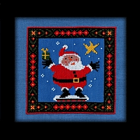 Christmas Star Santa Carousel Charts counted cross stitch