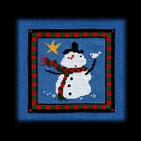 Christmas Star Snow Dad Carousel Charts counted cross stitch