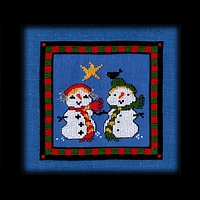 Christmas Star Snow Kids Carousel Charts counted cross stitch