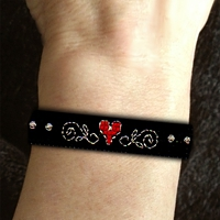 Hearts Wristband Stackers Kit counted cross stitch