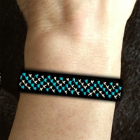 Snakeskin Wristband Stackers Kit counted cross stitch